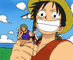 Luffy's new toy by michat2