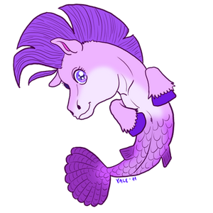 Chibi water horse for Tarkie by AltairSky