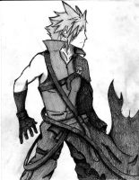 Cloud Strife Sketch 7 by Ex-Soldier-Cloud