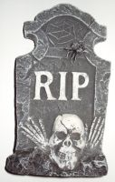 RIP skull spider tombstone by ghoulskout