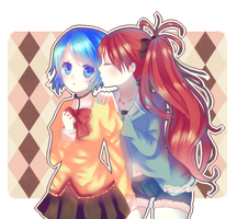 c: Sayaka and Kyouko by Luumies