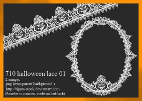 710 Halloween Lace 01 by Tigers-stock