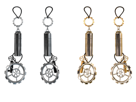 Steampunk Earrings PNG Stock by Roys-Art