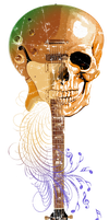 Skull Rock Guitar by dis-obey