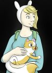 Fionna with a Cat by Noemili