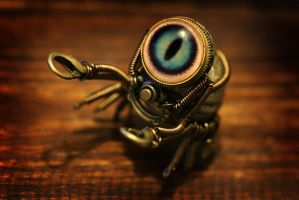 Steampunk Crab by CatherinetteRings