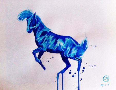 #29 Drawing a horse a day 2015 by Nienke15