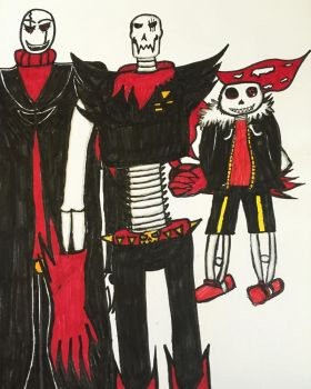 Underfell dr.gaster family by shadowthehedgehogzx