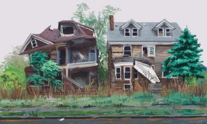 study - Detroit houses by Mr--Einikis