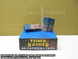 Tomb Raider II 40 Fathoms papercraft vignette WIP3 by ninjatoespapercraft