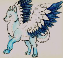 Winged Malamute Puppy by 1Rootbeer