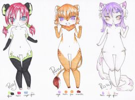 : What you eat? Adopts Set :: [Closed] : by Chewy-Adopts