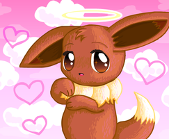Angelic Eevee by Princess-Peachie