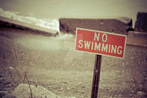 No Swimming - Late Fall by carbyville