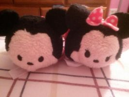 Mickey and Minnie Tsum Tsums by SkunkyRainbow270