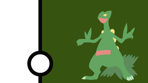 Sceptile Minimalist Wallpaper by Narflarg