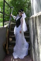 Steampunk Bride + Staircase 4 by HiddenYume-stock