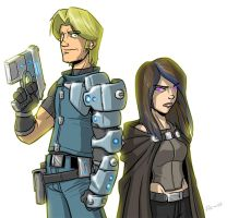 Orion and Z by Finfrock