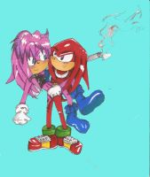 Request - Knux and Su by taiuzu2