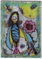 ATC - Planet X Batgirl Card by motherofthesky