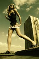 Marketa walking on the roof by zlty-dodo