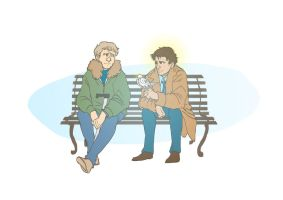 Contest prize: Cas and John by hollyoakhill