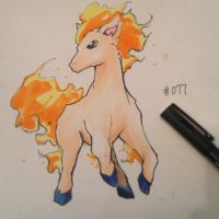 pkmn of the day- My Little Ponyta by ExShen