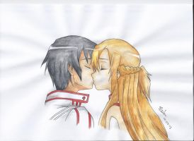 Kirito and Asuna ~Kiss by Kiyouya