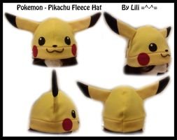 Pikachu Fleece Hat by LiliNeko