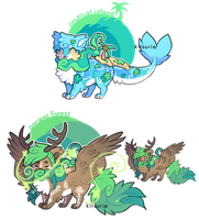 Island and Forest Wispup Auction - OPEN [1/2] by Kitsurie