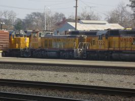 UP MP15AC 1351 by BNSF