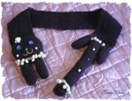 Chocolate Cream Kitty Scarf by Cateaclysmic
