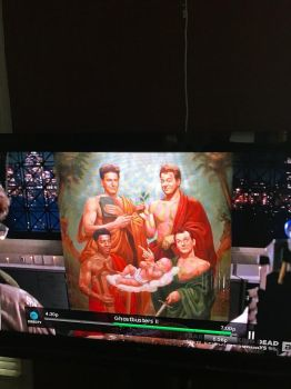 The Ghostbusters' painting  by llovesrarity