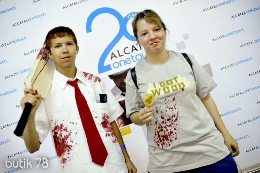 Shaun of the Dead: Shaun and Ed cosplay by ElkeSigoff