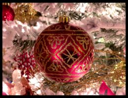 Red Christmas Tokens by heartened