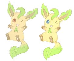 Leafeon stickers by Mico-tan