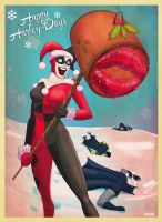 a harley quinn christmas by m7781