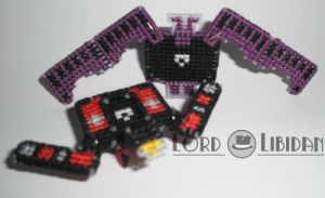 3D Transforming Robot Ratbat + Laserbeak X Stitch by LordLibidan