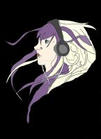 Girl With Headphones by ArtIsLife001