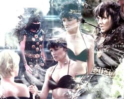 Xena Wallpaper - When Fates... by buckwolf