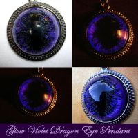 Glow Violet - Void Dragon Eye Pendant by LadyPirotessa