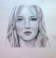 Jennifer Lawrence by MaiaSketches
