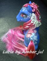 My little pony custom Lucia Butterfly by AmbarJulieta