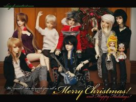 Merry Christmas and Happy Holidays by dollstars