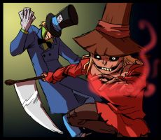 The Scarecrow and the Hatter by Crispy-Gypsy