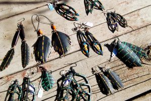 Upcycled Bicycle Tube Earrings by revolta