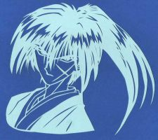 Kenshin Papercut by usagisailormoon20