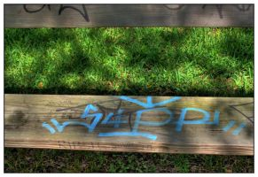 Graffiti on Bench by shawn529