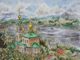 View on the Voskresenskaja Church by Lady-DreamArt