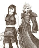 Tifa and Cloud - KH2 Version by DangoMango